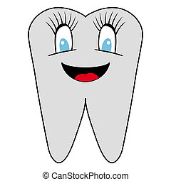 smiling tooth. vector