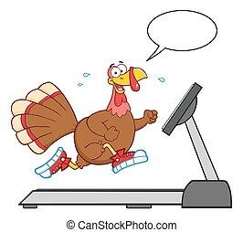 Smiling Turkey Cartoon Character