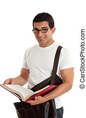 Smiling university student