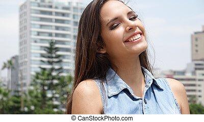 Smiling Urban Teen Girl