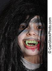 Smiling vampire