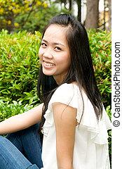 Smiling Vietnamese Girl