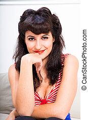 Smiling vintage Girl