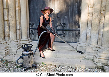 smiling woman cleaner 2