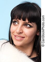 Smiling woman close up