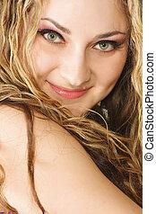 Smiling woman closeup