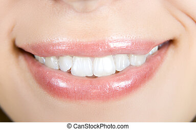 Smiling woman mouth