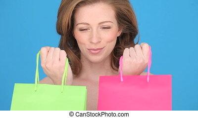 Smiling Woman Shopper