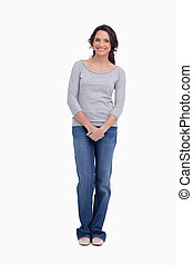 Smiling woman standing