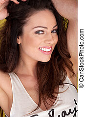 Smiling Woman With Lovely Teeth