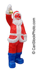 smiling x'mas santa claus with clipping path, isolated on white