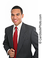 Smiling Young African American Male Portrait