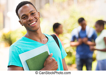 young african male college student