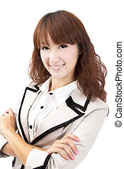 Smiling young asian businesswoman