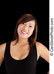 Smiling Young Asian Teen Girl Portrait Attracitve