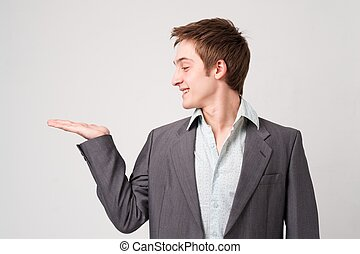 businessman with support gesture