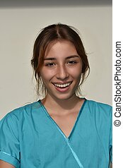 Smiling Young Female Nurse
