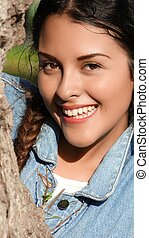 Smiling Young Girl Teen