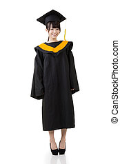 Smiling young graduation woman