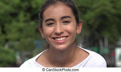 Smiling Young Hispanic Female Teen
