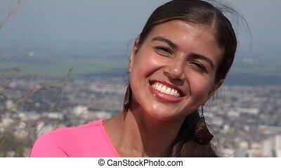 Smiling Young Hispanic Teen Girl
