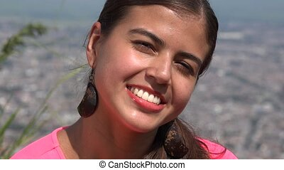 Smiling Young Hispanic Woman