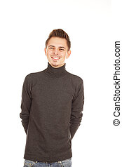 smiling young man isolated on a white background