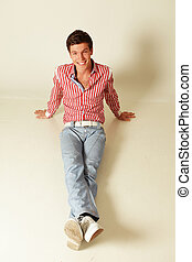 smiling young man isolated