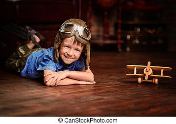 smiling young pilot