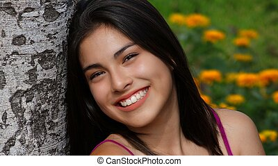 Smiling Young Teen Girl