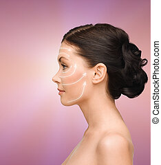 smiling young woman - beauty, spa and health concept -...