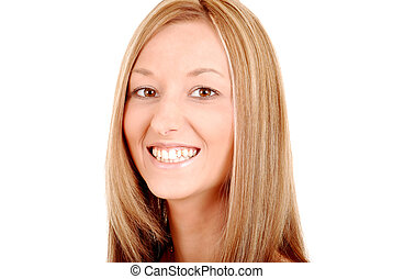 Smiling young woman portrait