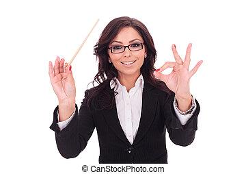 smilingly, donna, condotte, affari
