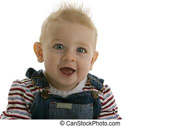 smilng, kinn, lachender, zahnen, baby, geifer