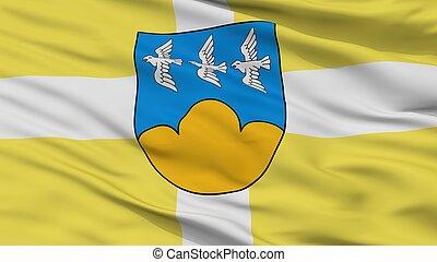 Smiltene City Flag, Latvia, Closeup View - Smiltene City...