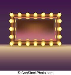 smink, lampan, spegel
