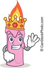 Smirking candle character cartoon style - King candle...