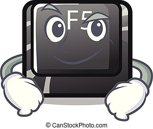 Smirking f5 installed on the mascot computer