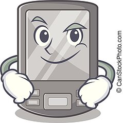 Smirking personal digital assistant isolated the cartoon