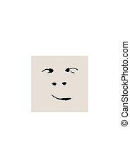 smirking, silhouette, figure