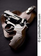 Smith & Wesson .357 Magnum revolver and holster
