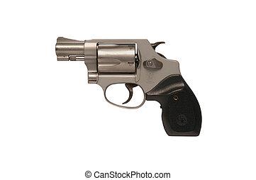 Smith & Wesson snub nose police revolver