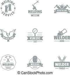 Smithery logo set, simple style - Smithery logo set. Simple...