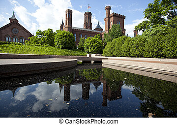 smithsonian castle museum - WASHINGTON D.C. - MAY 24, 2014:...