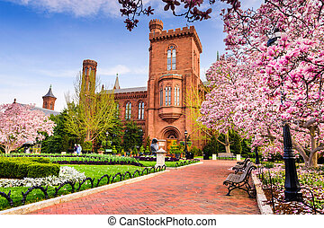 Smithsonian in DC - Washington DC - April 12, 2015: The...