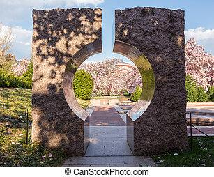 Smithsonian Institution gardens Washington DC - Entrance to...