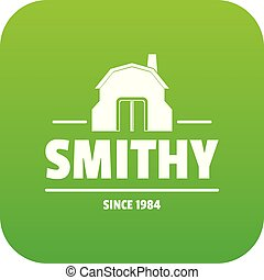 Smithy icon green vector isolated on white background