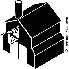 Smithy icon, simple black style - Smithy icon. Simple...