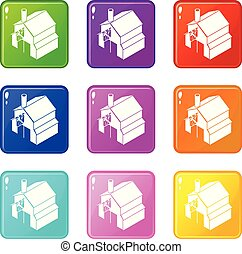 Smithy icons set 9 color collection isolated on white for...