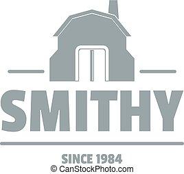 Smithy logo, simple gray style - Smithy logo. Simple...
